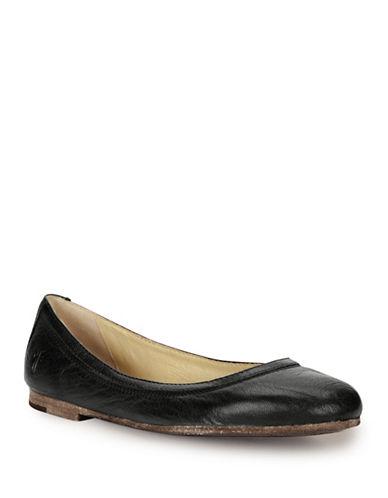 Frye Carson Leather Ballet Flats-BLACK/BEIGE-6