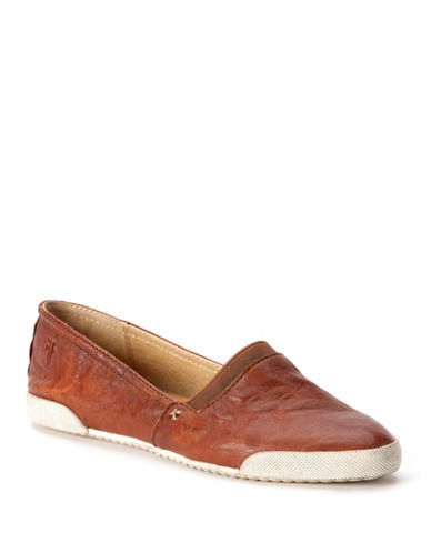 Frye Melanie Slip-On Leather Sneakers-COGNAC-8