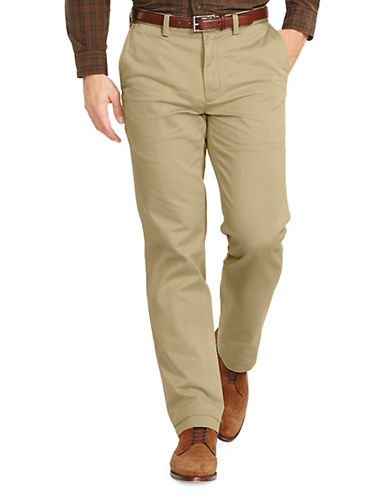 Polo Ralph Lauren Classic Fit Flat Front Chino Pant-HUDSON TAN-40X32