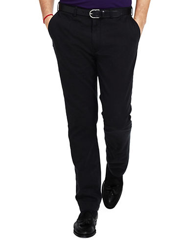 Polo Ralph Lauren Big and Tall Classic-Fit Flat-Front Chino Pant-POLO BLACK-36X36