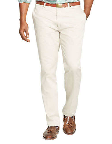Polo Ralph Lauren Big and Tall Classic-Fit Flat-Front Chino Pant-CLASSIC STONE-50X32