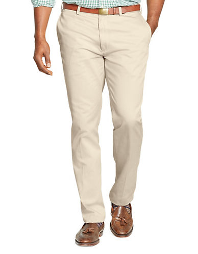 Polo Ralph Lauren Big and Tall Classic-Fit Flat-Front Chino Pant-HUDSON TAN-42X34