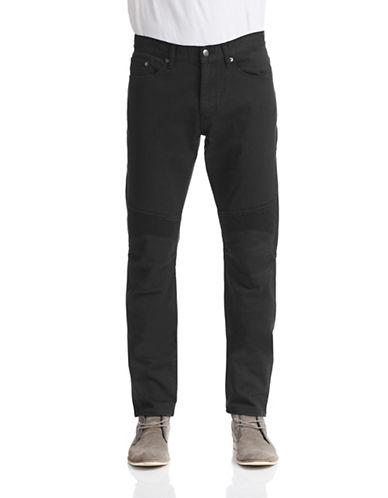 Kent & Curwen Five-Pocket Moto Jeans-BLACK-36