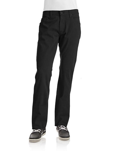 Ag Jeans The Graduate Tailored Leg Jeans-BLACK-30X34