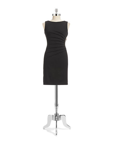 Ivanka Trump Starburst Sheath Dress-BLACK-2