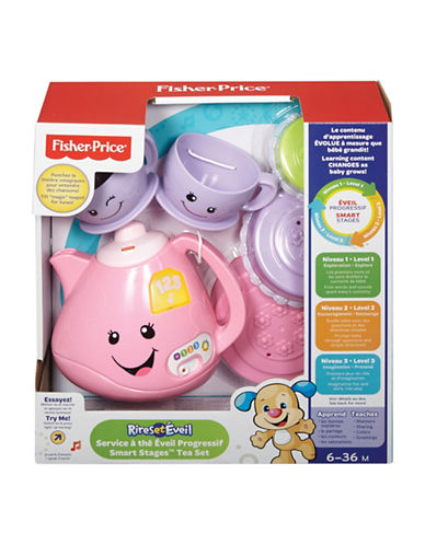 Fisher Price Laugh and Learn Smart Stages Tea Set - French Version-MULTI-One Size