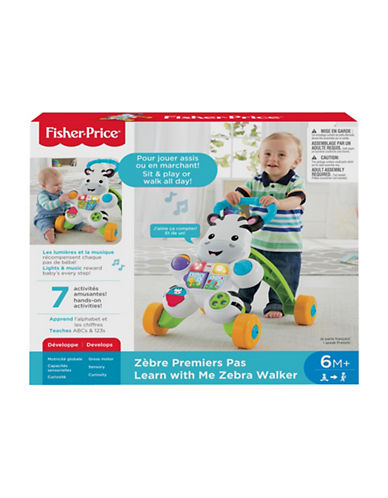Fisher Price Learn with Me Zebra Walker - French Version-MULTI-One Size