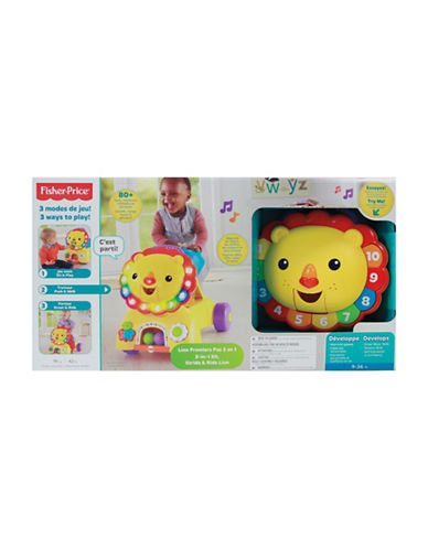 Fisher Price 3-in-1 Sit, Stride and Ride Lion - French Version-MULTI-One Size