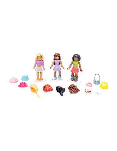 Mega Bloks American Girl American Girl Downtown Style Three-Figure Collection-MULTI-One Size