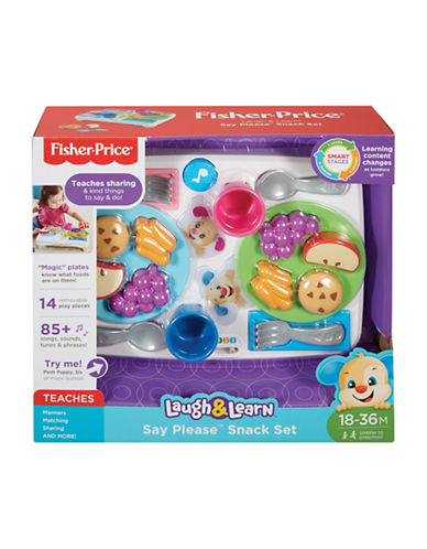 Fisher Price Laugh and Learn Say Please Snack Set-MULTI-One Size