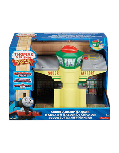 Fisher Price Thomas and Friends Wooden Railway Sodor Airship Hangar-MULTI-One Size