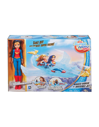Dc Super Hero Girls Wonder Woman and Invisible Jet Dolls-MULTI-One Size