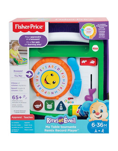 Fisher Price Laugh and Learn Remix Record Player (French)-MULTI-One Size