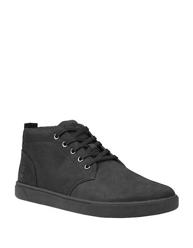 Timberland Groveton Chukka Shoes-BLACK-7.5