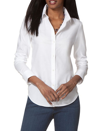 Chaps Poplin Shirt-WHITE-X-Large