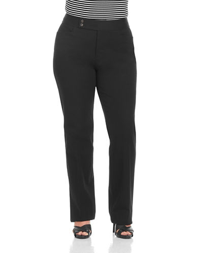 Chaps Plus Straight Stovepipe Pants-BLACK-20W