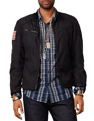 Denim & Supply Ralph Lauren Waxed Nylon Jacket-BLACK-X-Large 86926932_BLACK_X-Large