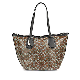 COACH  Taxi Zip Top Tote in Signature Coated Canvas