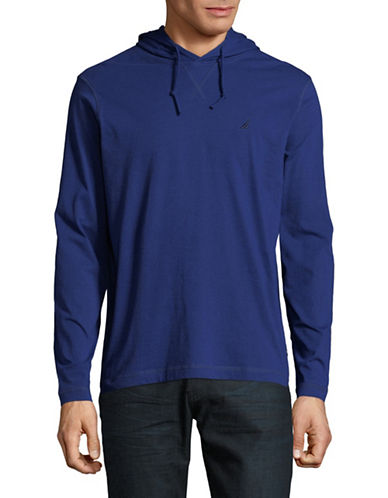 Nautica Long-Sleeve Cotton Hoodie-BLUE-X-Large 89966368_BLUE_X-Large