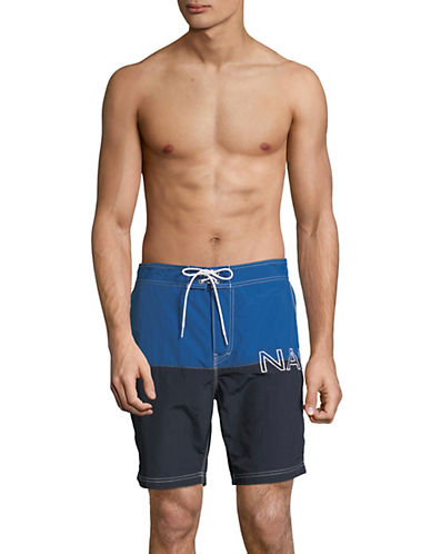 Nautica Colourblock Board Shorts-BLUE-X-Large 90015936_BLUE_X-Large