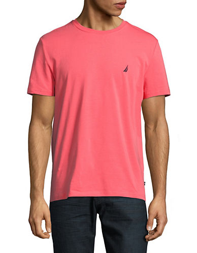 Nautica Round Neck T-Shirt-PINK-Medium 90015958_PINK_Medium
