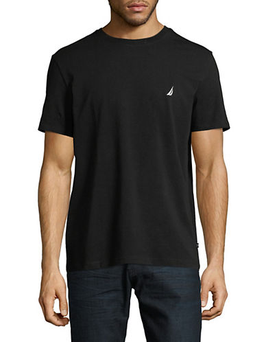 Nautica Solid Pocket Tee-BLACK-Large 89966955_BLACK_Large