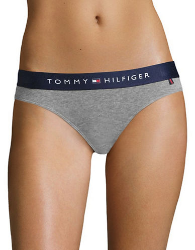 Tommy Hilfiger Lounge Bikini Panty-GREY HEATHER-Medium