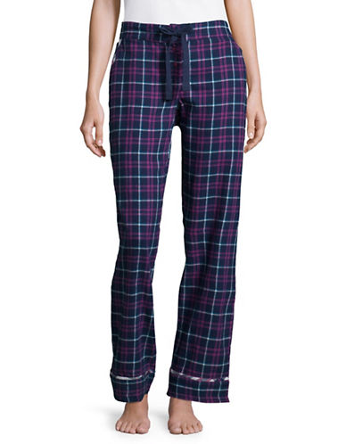 Tommy Hilfiger Plaid Flannel Pyjama Pants-BLUE-Medium