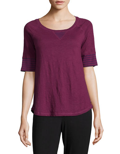 Tommy Hilfiger Heathered Tee-PURPLE-Medium