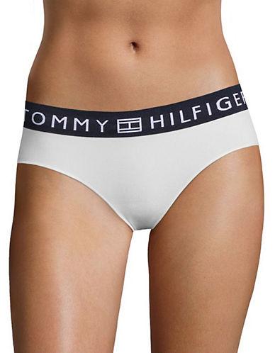 Tommy Hilfiger Seamless Logo Hipster Panty-EGRET-Medium
