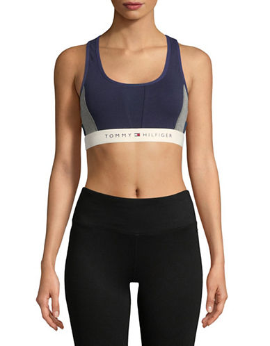 Tommy Hilfiger Colourblock Sports Bra-BLUE-Medium