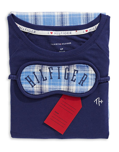 Tommy Hilfiger Plaid Pyjamas with Sleep Mask-PLAID-Large