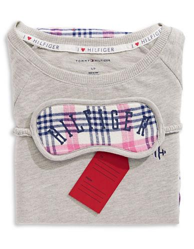 Tommy Hilfiger Plaid Pyjamas with Sleep Mask-MULTI-Medium
