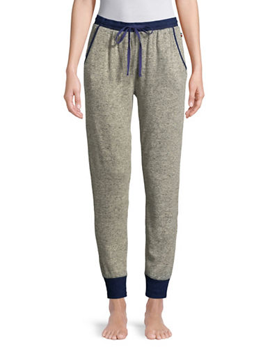 Tommy Hilfiger Classic Contrast Jogger Pants-HEATHER GREY-Medium