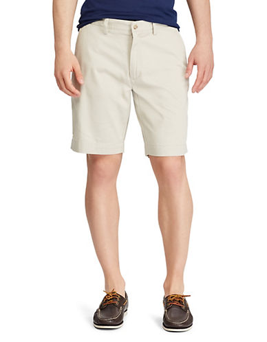 Polo Ralph Lauren Classic Fit Flat Front 9 Chino Short-BEIGE-40