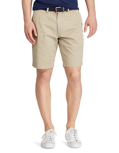 Polo Ralph Lauren Classic Fit Flat Front 9 Chino Short-HUDSON TAN-36
