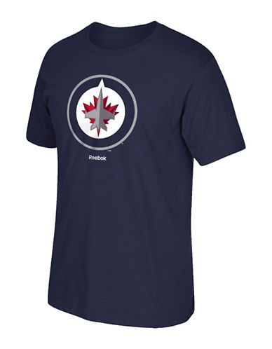 Reebok Winnipeg Jets Team Crest T-Shirt-DARK NAVY-XX-Large