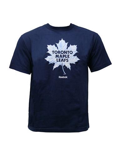 Reebok Toronto Maple Leafs Face-Off High End Mascot T-Shirt-DARK BLUE-Medium