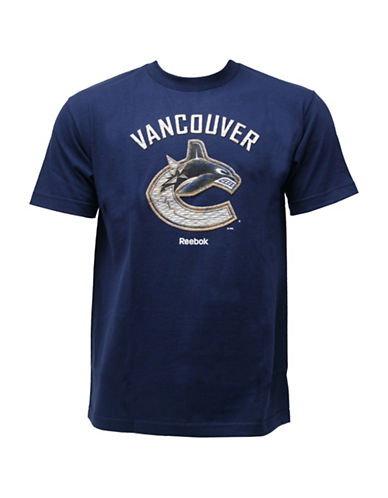 Reebok Vancouver Canucks Face-Off High End Mascot T-Shirt-DARK BLUE-X-Large