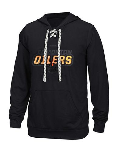 Reebok Edmonton Oilers Skate Lace Hoodie-BLACK-Small 90042176_BLACK_Small