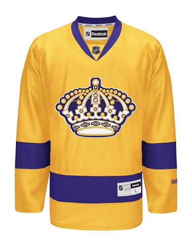 Reebok Los Angeles Kings NHL Premier Alternative Jersey-GOLD-Large