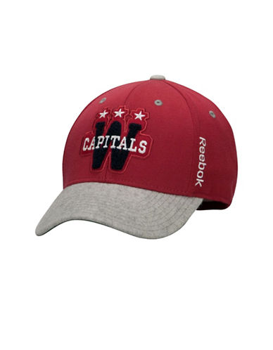 Reebok Washington Capitals Structured Flex Cap-RED-Large/X-Large