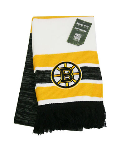 Reebok Boston Bruins Centre Ice Jacquard Scarf-YELLOW-One Size
