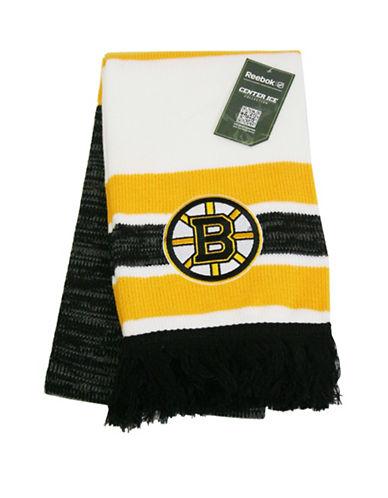 Reebok Boston Bruins Centre Ice Jacquard Scarf-YELLOW-One Size