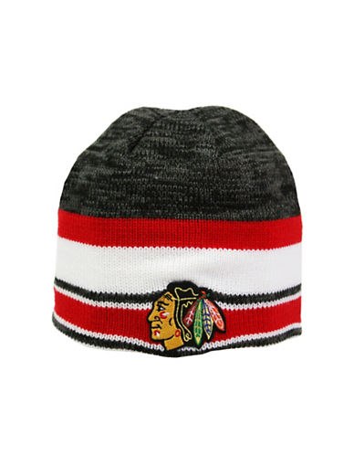 Reebok Center Ice Chicago Blackhawks Team Beanie-RED-One Size