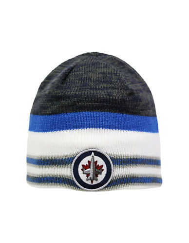 Reebok Center Ice Winnipeg Jets Team Beanie-WHITE-One Size