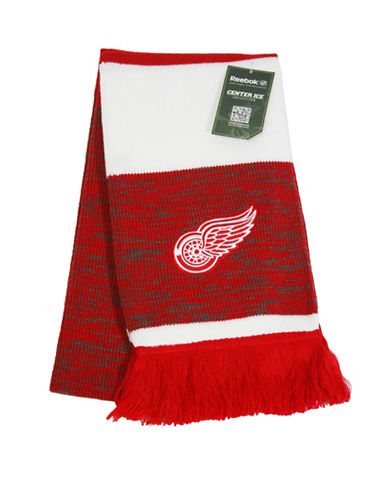 Reebok Detroit Red Wings Centre Ice Jacquard Scarf-RED-One Size