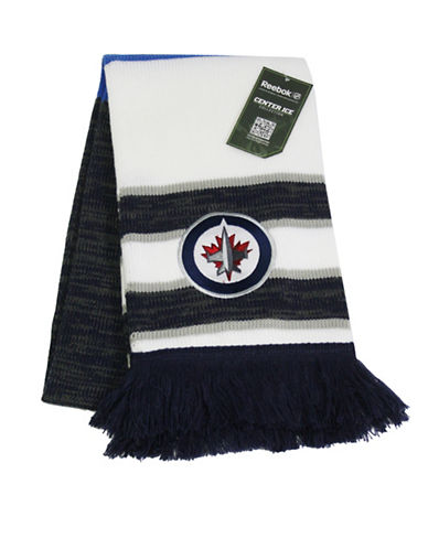 Reebok Winnipeg Jets Center Ice Jacquard Scarf-WHITE-One Size