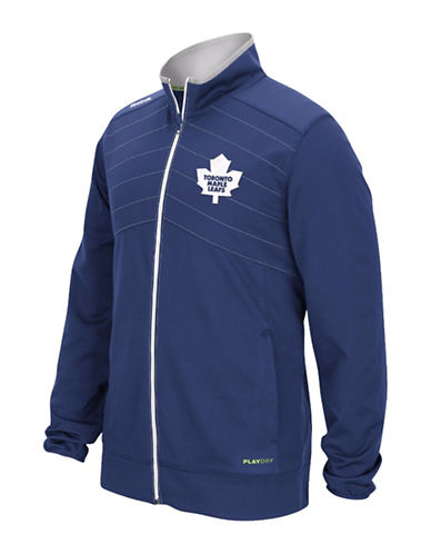 Reebok Toronto Maple Leafs Centre Ice Warm Up Jacket-DARK BLUE-Small