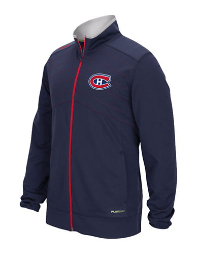 Reebok Montreal Canadiens Centre Ice Warm Up Jacket-TRUE NAVY-XX-Large